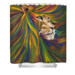 Lion Shower Curtain by Kd Neeley