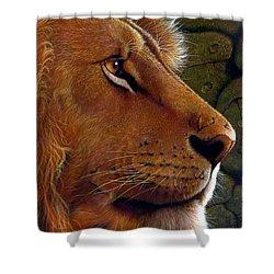Lion King Shower Curtain by Jurek Zamoyski