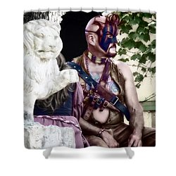 Lion Man Shower Curtain by Thomas Woolworth