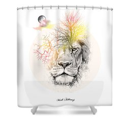 Lion Shower Curtain by Mark Ashkenazi