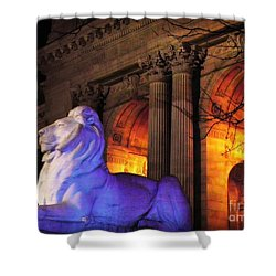 Lion Nyc Public Library Shower Curtain
