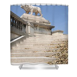 Lion Tuileries Garden Paris Shower Curtain by Jeremy Voisey