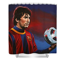 Lionel Messi 2 Shower Curtain by Paul Meijering