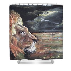 Lions Domain Shower Curtain