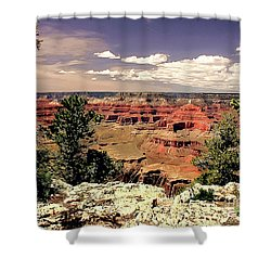 Lipan Point  Grand Canyon Shower Curtain by Bob and Nadine Johnston