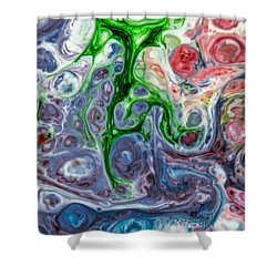 Liquid Abstract Shower Curtain