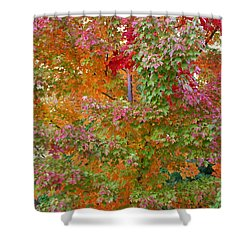 Liquid Amber Magic Shower Curtain