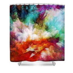Shower Curtain featuring the painting Liquid Colors - Original by Lilia D