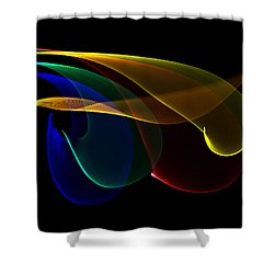 Liquid Colors Shower Curtain
