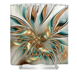 Liquid Flame Shower Curtain by Anastasiya Malakhova