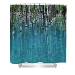 Liquid Forest Shower Curtain