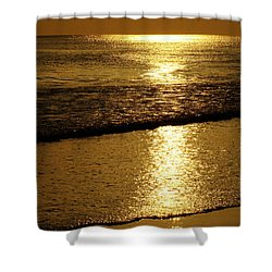 Liquid Gold Shower Curtain by Sandy Keeton
