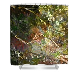 Liquid Leaves Shower Curtain