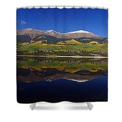 Liquid Mirror Panorama Shower Curtain by Jeremy Rhoades