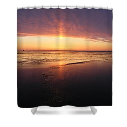 Liquid Sunrise Shower Curtain