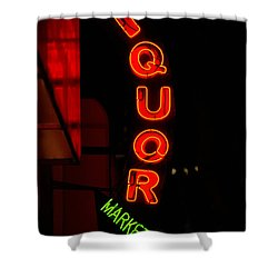 Liquor Market Shower Curtain by Lee Roth