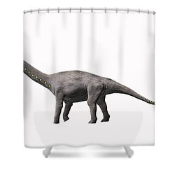 Lirainosaurus Astibae, Late Cretaceous Shower Curtain by Nobumichi Tamura