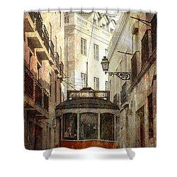Lisbon Streetcar Shower Curtain by Daniel Hagerman
