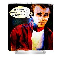 Listen To James Shower Curtain by Ed Weidman