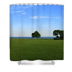 Shower Curtain featuring the photograph Listening To The Breeze  by Neal Eslinger