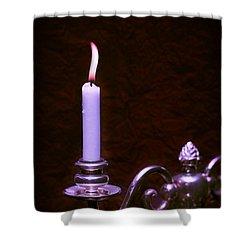 Lit Candle Shower Curtain by Amanda Elwell