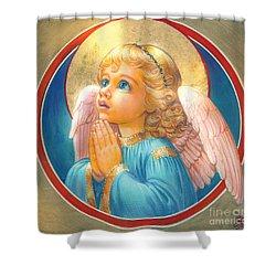 Little Angel Shower Curtain by Zorina Baldescu