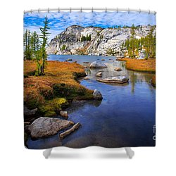 Little Annapurna Shower Curtain by Inge Johnsson