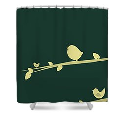 Little Birds Shower Curtain by Mark Ashkenazi
