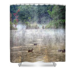 Shower Curtain featuring the photograph Little Bit Of Fall by Charlotte Schafer