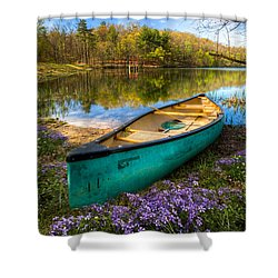 Little Bit Of Heaven Shower Curtain by Debra and Dave Vanderlaan
