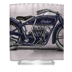 Little Blue Indian 2 Shower Curtain