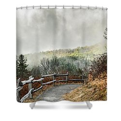 Shower Curtain featuring the photograph Little Cataloochee Overlook In The Great Smoky Mountains by Debbie Green