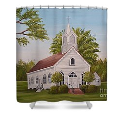 Little Chapel Shower Curtain