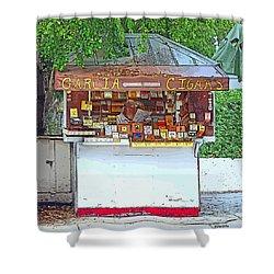 Little Cigar Shop Key West Shower Curtain