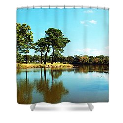 Shower Curtain featuring the photograph Little Creek by Angela DeFrias