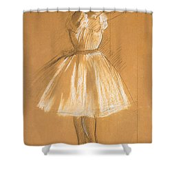 Little Dancer Shower Curtain by Edgar Degas