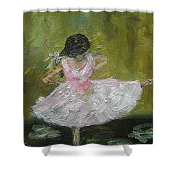 Shower Curtain featuring the painting Little Dansarina by Reina Resto