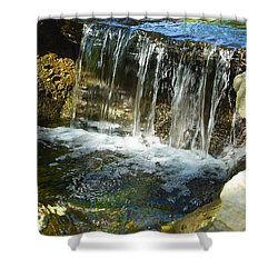 Little Falls 3 Shower Curtain by Charlie Brock
