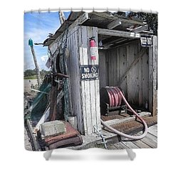 Little Gas Shack Shower Curtain