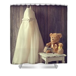 Little Girls Bedroom Shower Curtain by Amanda Elwell