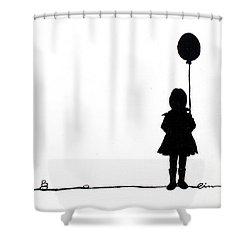 Little Girls On Little Canvas  Shower Curtain by Cindy D Chinn