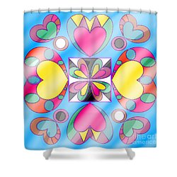 Little Hearts-5 Shower Curtain