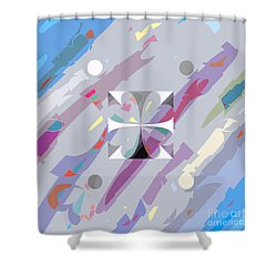 Little Hearts-7 Shower Curtain