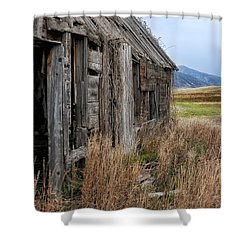 Little House On The High Plains Shower Curtain by Kathleen Bishop