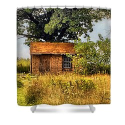 Shower Curtain featuring the photograph Little House On The Prairie by Peggy Franz