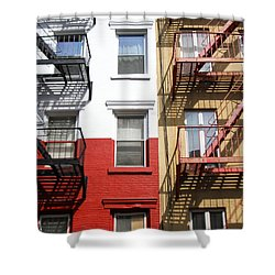 Little Italy. Shower Curtain by Menachem Ganon