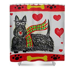 Little Lassie Shower Curtain by Diane Pape