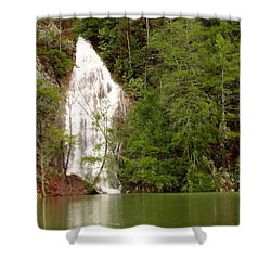 Little Laurel Branch Falls Landscape Shower Curtain