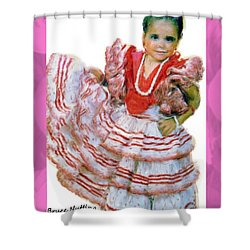 Shower Curtain featuring the painting Little Lidia by Bruce Nutting