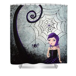 Little Miss Muffet Shower Curtain by Oddball Art Co by Lizzy Love